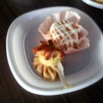 Menú: Pastel de pescado y saquito de ternasco con verduritas