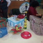 Objetos realizados con mimbre de papel